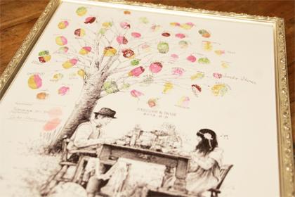 絵画風のウェディングツリー