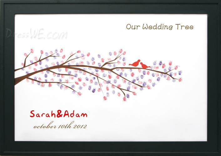 枝の一部のウェディングツリー