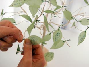 本物の木を使ったウェディングツリー