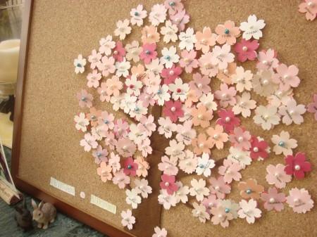 桜をイメージしたウェディングツリー